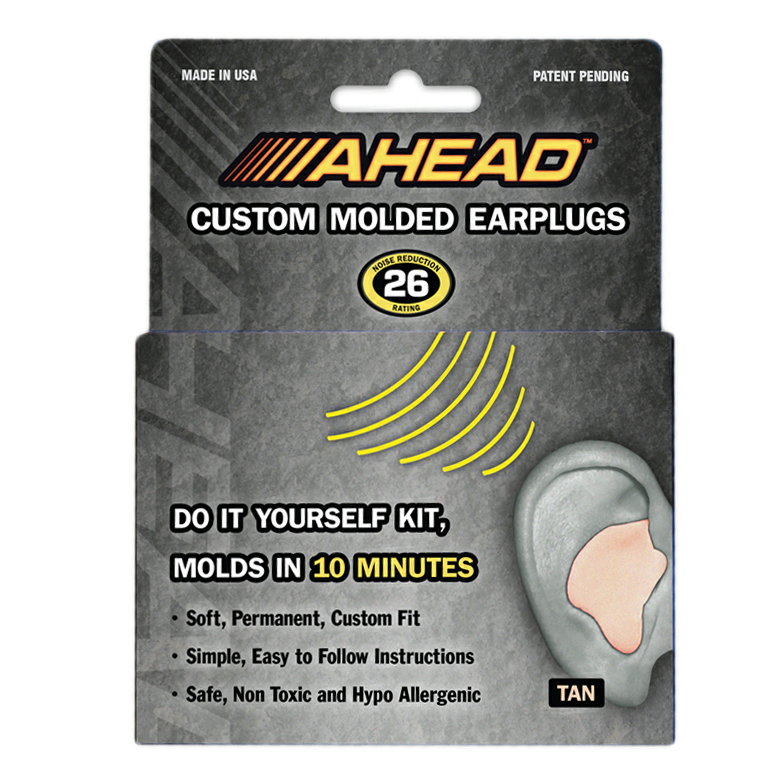 Ahead Tan Custom Molded Ear Plugs