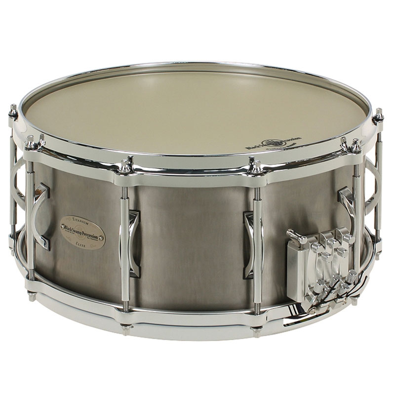 "Black Swamp 5.5"" x 14"" Multisonic Titanium Elite Concert Snare Drum"