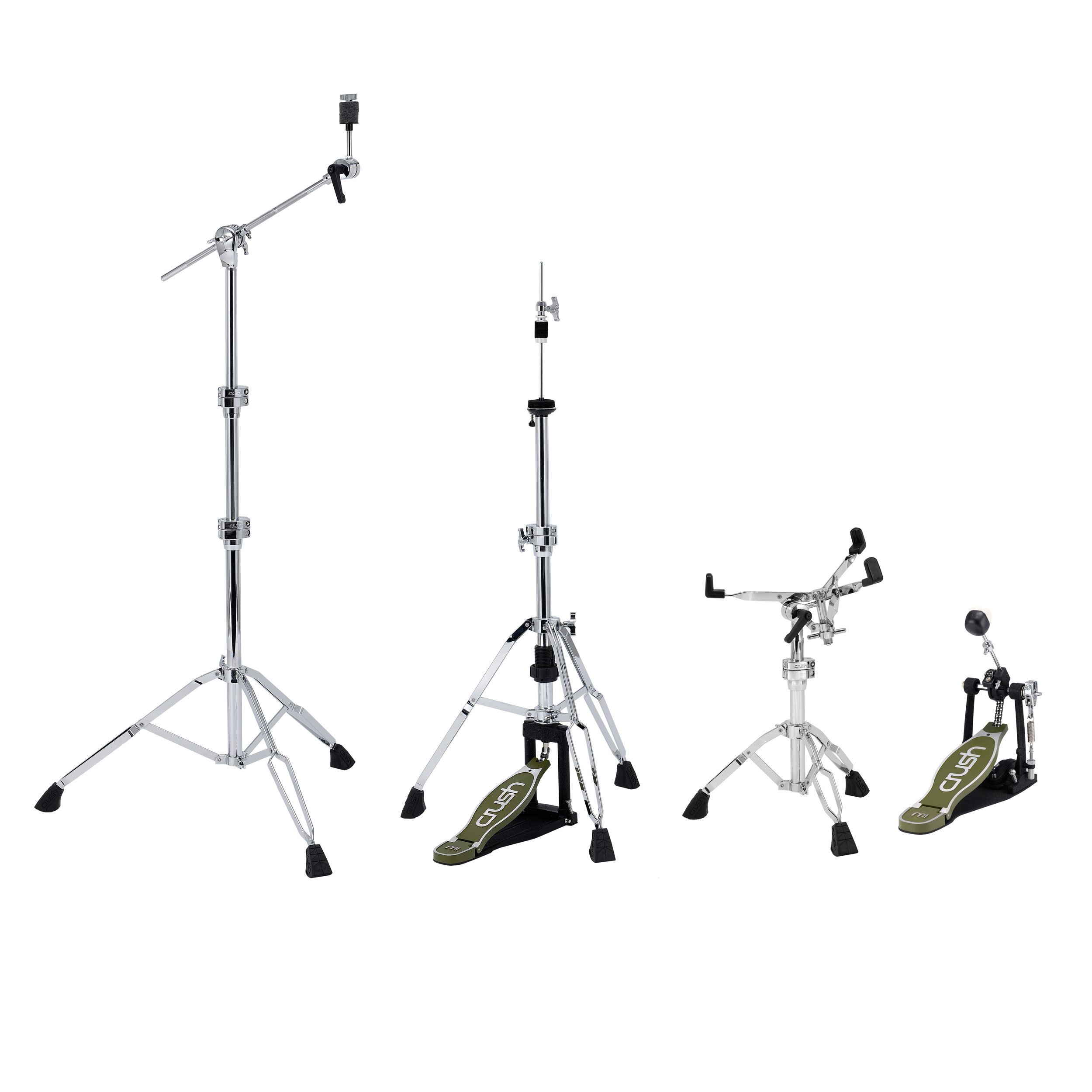 Crush M4 Four Piece Hardware Pack with One Boom Cymbal Stand