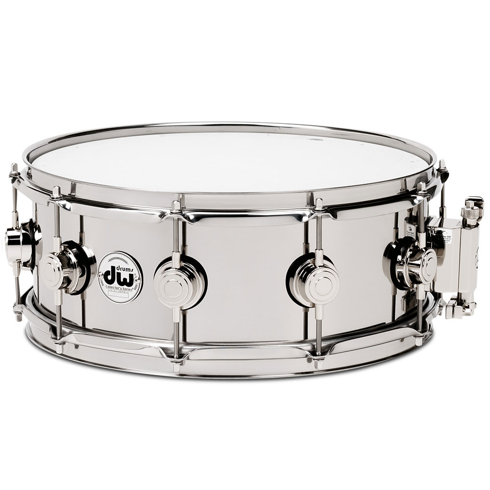 "DW 5.5"" x 14"" Stainless Steel Snare Drum With Nickel Hardware"
