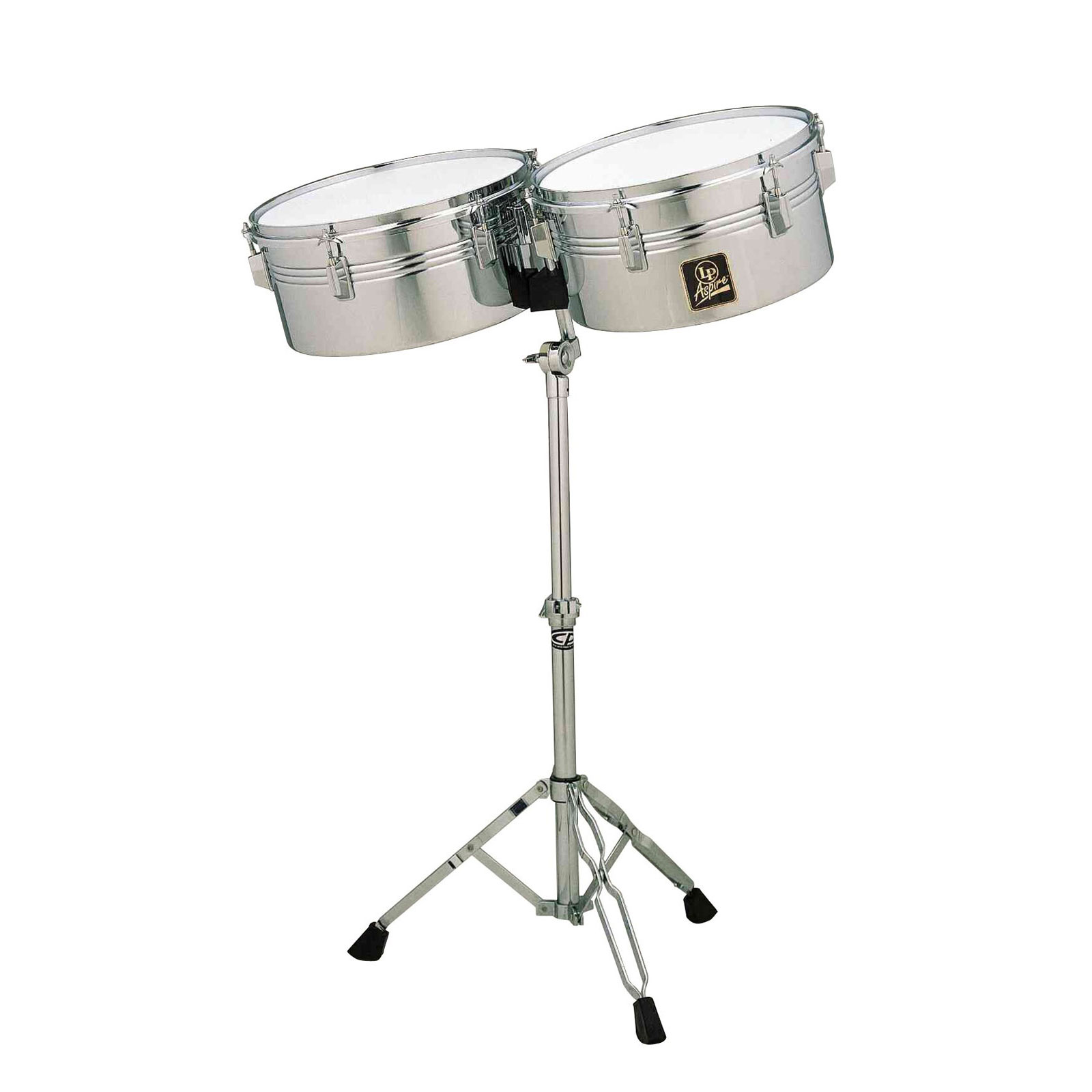 "LP 13/14"" Prestige Stainless Steel Timbales"