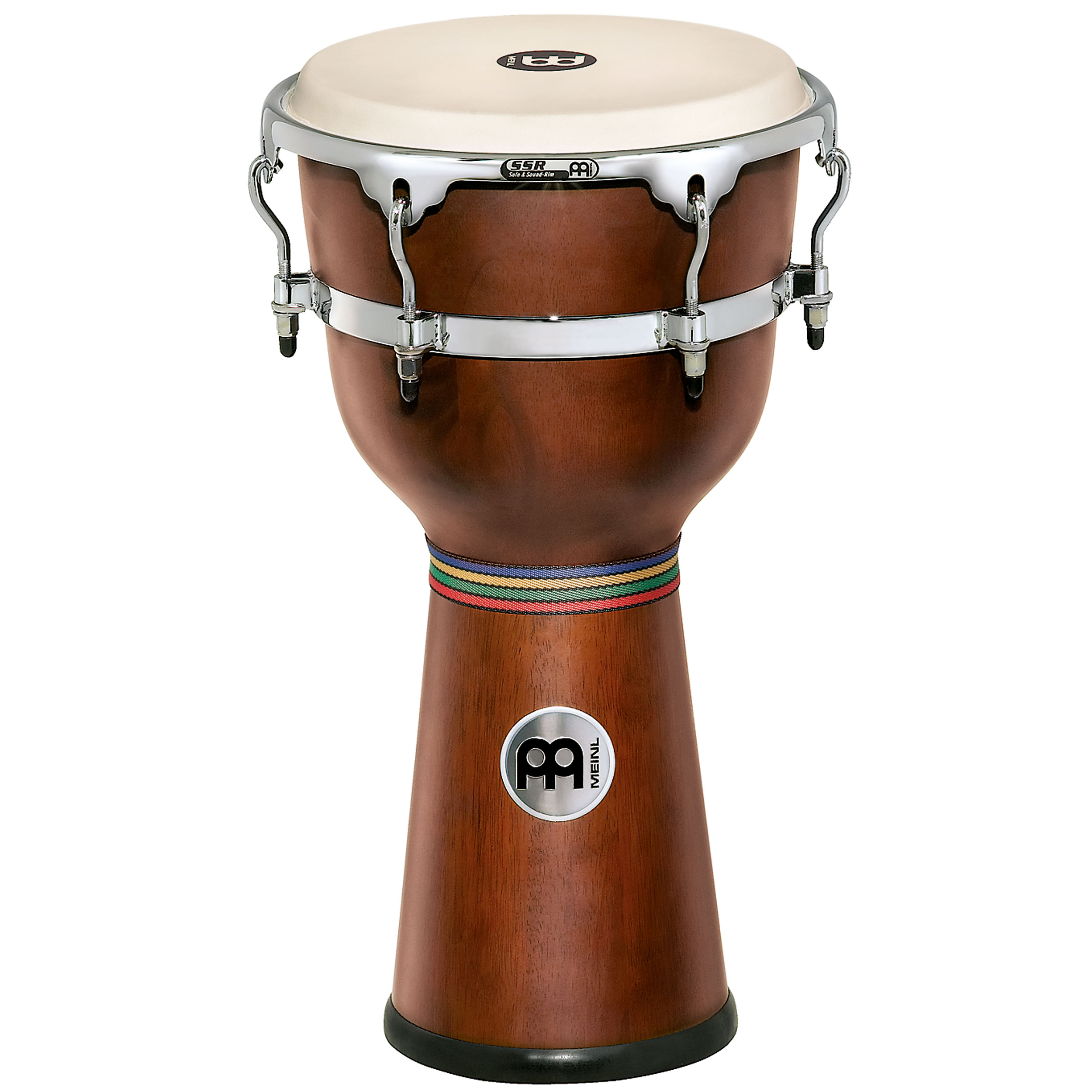 "Meinl 12"" x 24 1/4"" Floatune Wood Djembe in African Brown Finish"