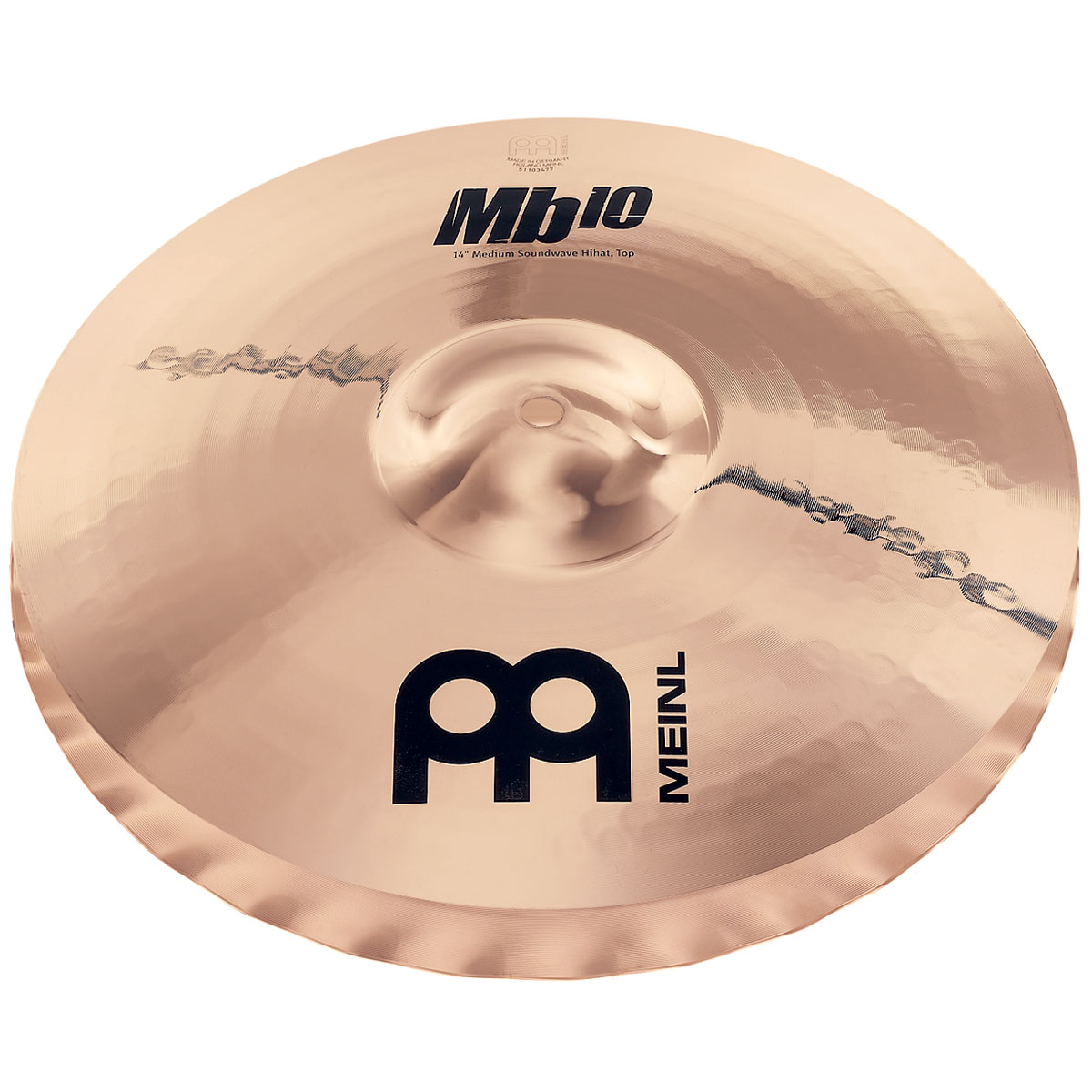 "Meinl 14"" Mb10 Medium Soundwave Hi Hat Cymbals"