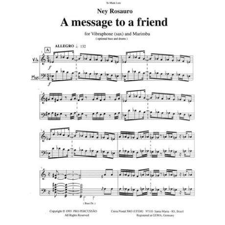 A Message to a Friend by Ney Rosauro