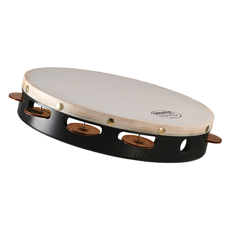 "Grover Pro 10"" Projection-Plus Single-Row Phosphor Bronze Tambourine (Natural Head)"