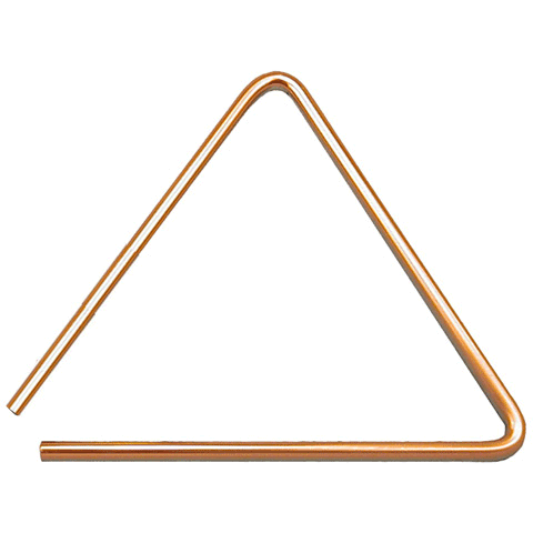 "Black Swamp 8"" Brass Spectrum Triangle"