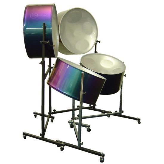 Panyard Solid Hoop Painted Four Cello Steel Drum