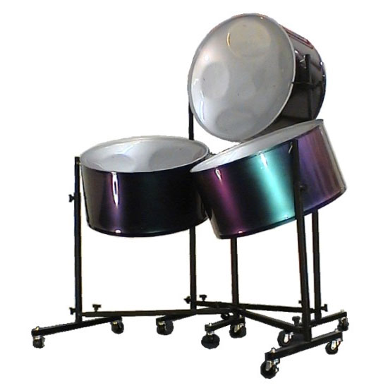 Panyard Solid Hoop Painted Triple Cello Steel Drum