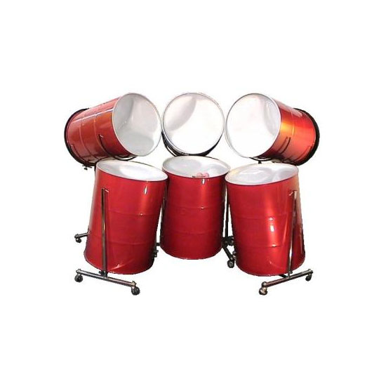 Panyard Solid Hoop Painted Six Bass Steel Drum