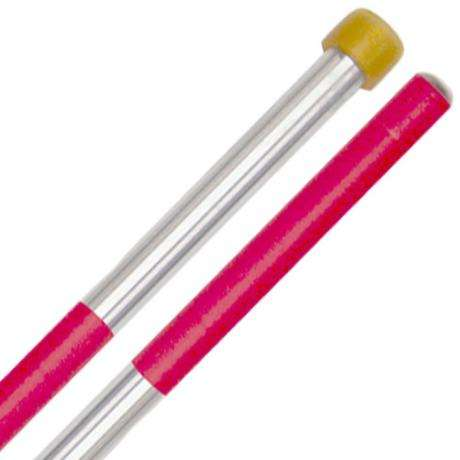 Panyard Rainbow Series Medium Lead Soft Steel Drum Mallets - Red