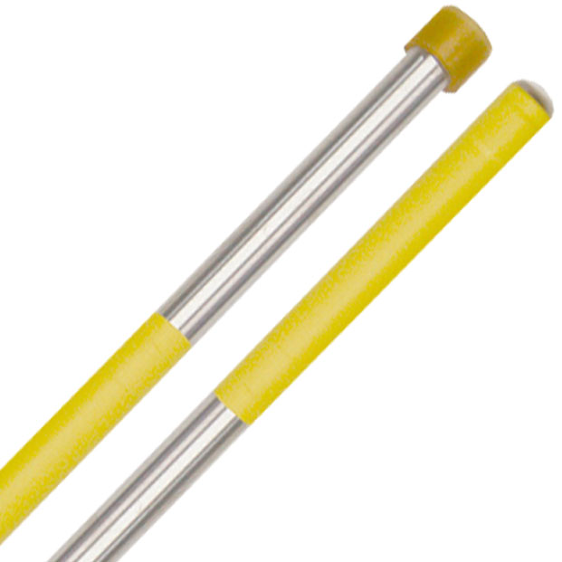 Panyard Rainbow Series Hard Double Second Steel Drum Mallets - Yellow