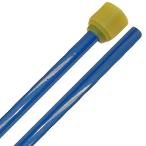 Panyard Powder Coated General Cello Steel Drum Mallets - Blue