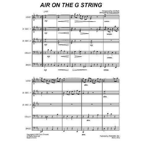 Air on the G String by J. S. Bach arr. Franz Grissom