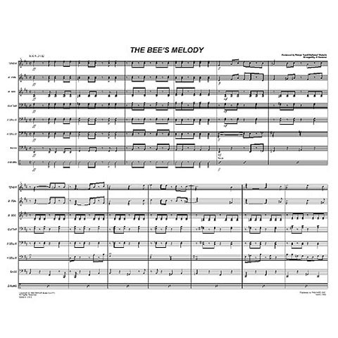 """The Bees Melody by Aldwyn """"Lord Kitchener"""" Roberts arr. Steve Popernack"""