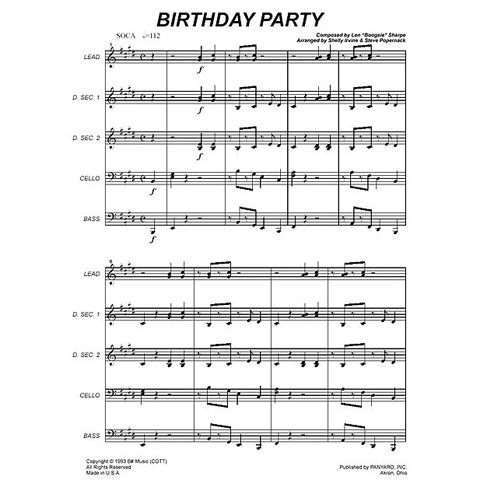 "Birthday Party by Len ""Boogsie"" Sharpe arr. Mark O."