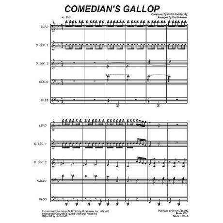 Comedians Gallop by Dmitri Kabalevsky arr. Tim Peterman
