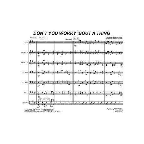 Dont Worry Bout a Thing by Stevie Wonder arr. Robert Ledbetter