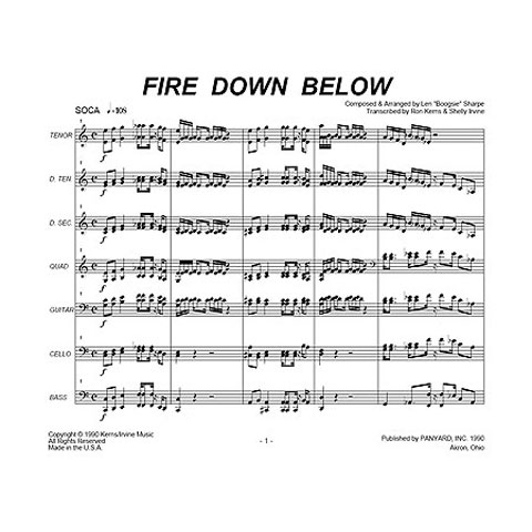 "Fire Down Below by Len ""Boogsie"" Sharpe arr. Ron Kerns & Shelly Irvine"