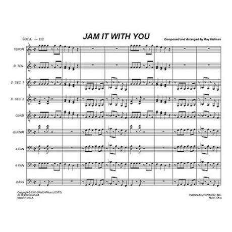Jam it With You by Ray Holman arr. Steve Popernack