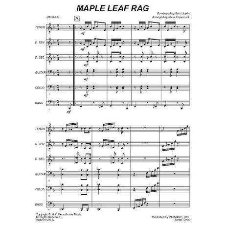 Maple Leaf Rag by Scott Joplin arr. Steve Popernack