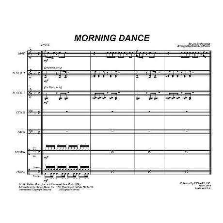 Morning Dance by Jay Beckenstein arr. Robert Ledbetter