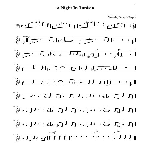 "A Night in Tunisia by John ""Dizzy"" Gillespie & Frank Paparelli arr. Chris Tanner"