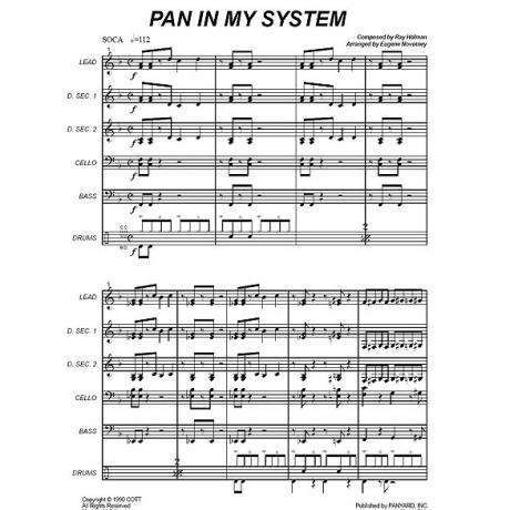 Pan in my System by Ray Holman arr. Eugene Novotney