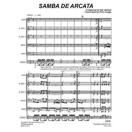 Samba de Arcata by Ray Holman arr. Khris Dodge