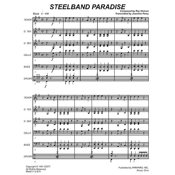 Steelb& Paradise by Ray Holman arr. Tom Miller & Jeannine Remy