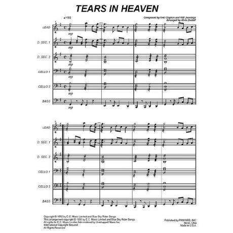 Tears in Heaven by Eric Clapton & Will Jennings arr. Alvin Daniell