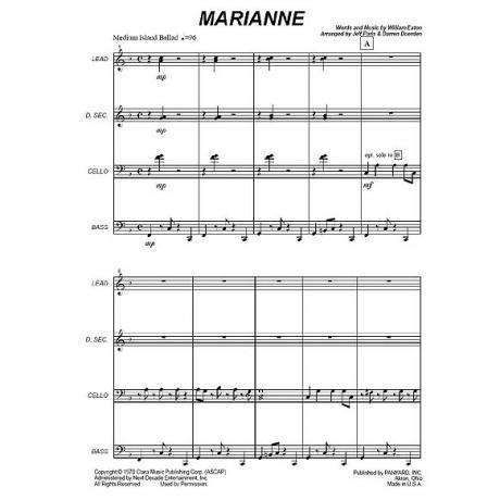 Marianne by William Eaton arr. Jeff Paris & Darren Duerden