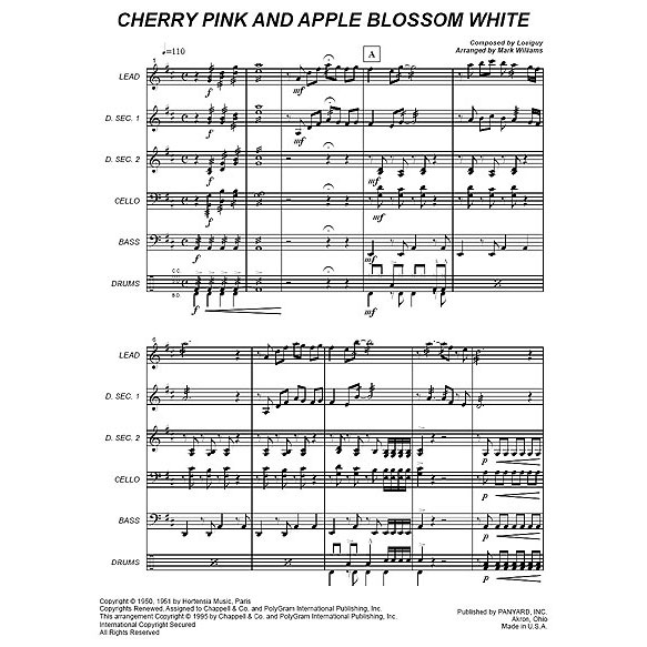 Cherry Bloom & Apple Blossoms by Louiguy arr. Mark Williams