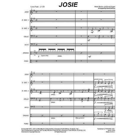 Josie by Walter Becker & Donald Fagen arr. David Billman