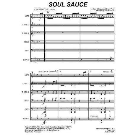 Soul Sauce Comp. by Dizzy Gillespie & Chano Pozo arr. David Billman