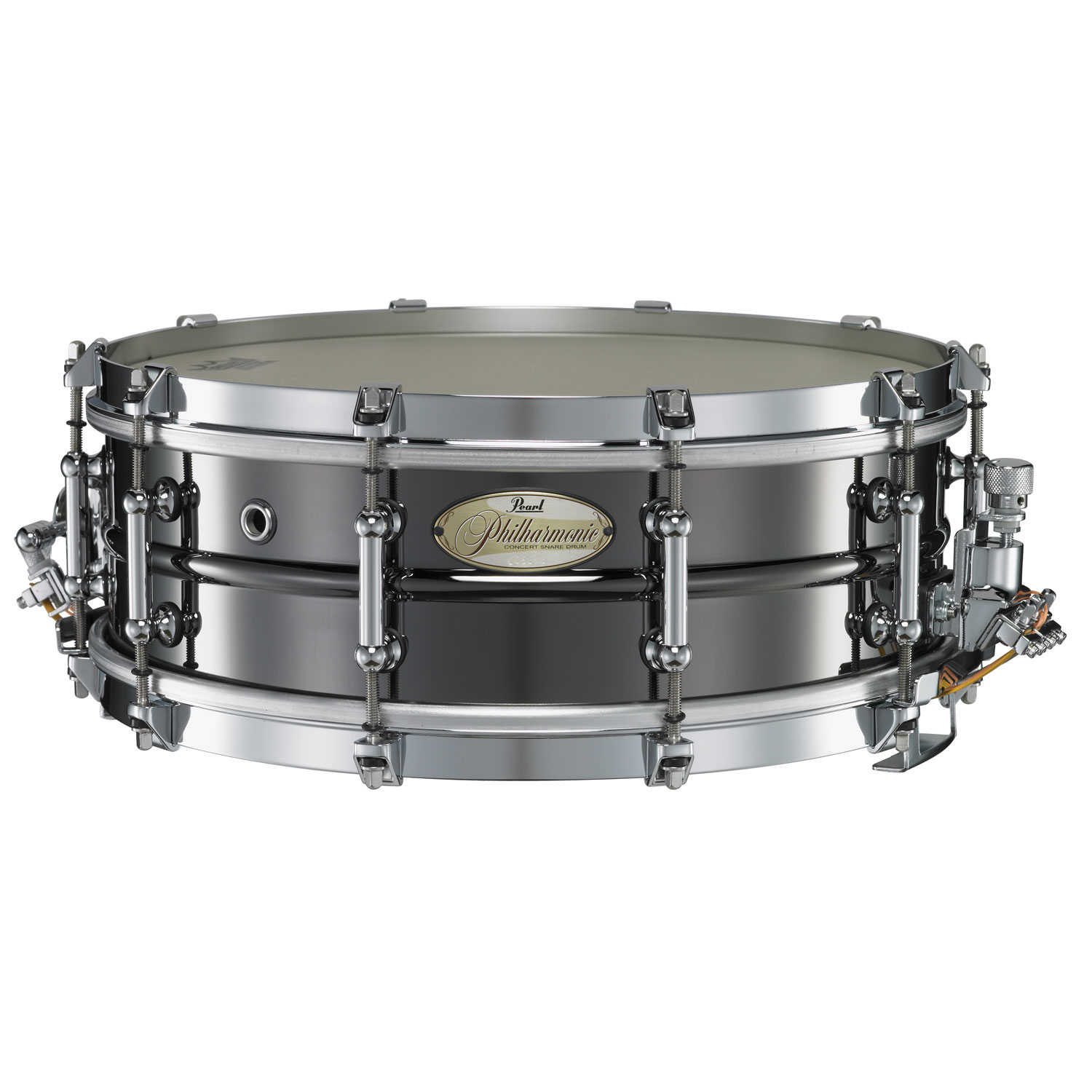 """Pearl 14 x 5"""" Philharmonic 1.5mm Beaded Brass Concert Snare Drum"""