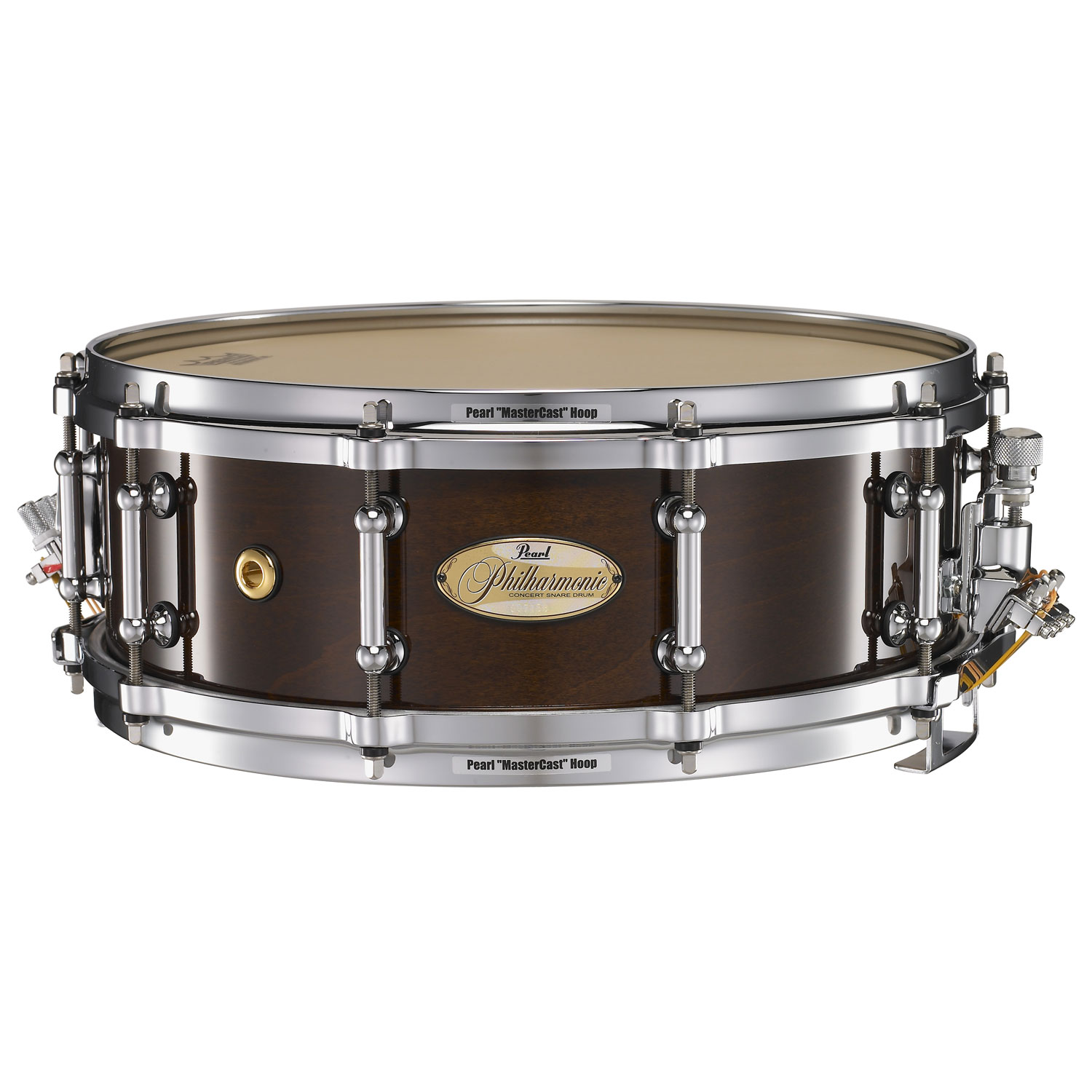 "Pearl 14"" x 5"" Philharmonic Solid Maple Concert Snare Drum in High Gloss Walnut Bordeaux"