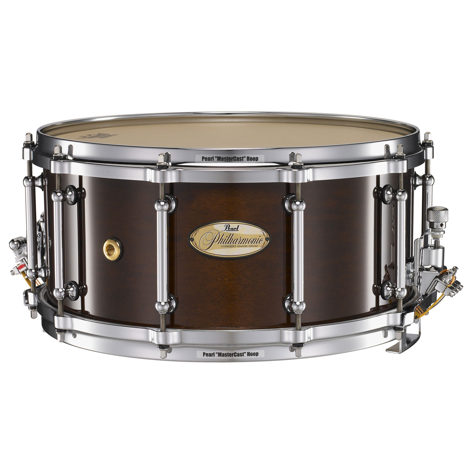 "Pearl 14"" x 6.5"" Philharmonic Solid Maple Concert Snare Drum in High Gloss Walnut Bordeaux"