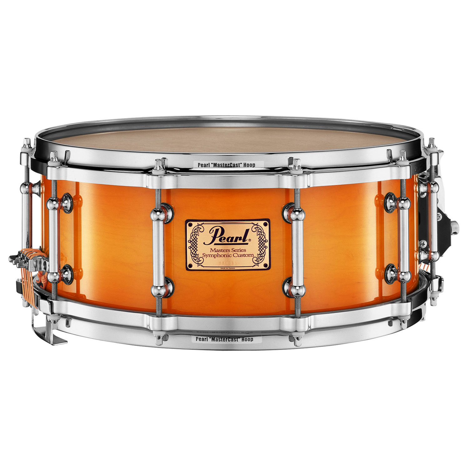 "Pearl 14"" x 5.5"" Masters Symphonic 6-Ply Maple Concert Snare Drum in Antique Sunburst"