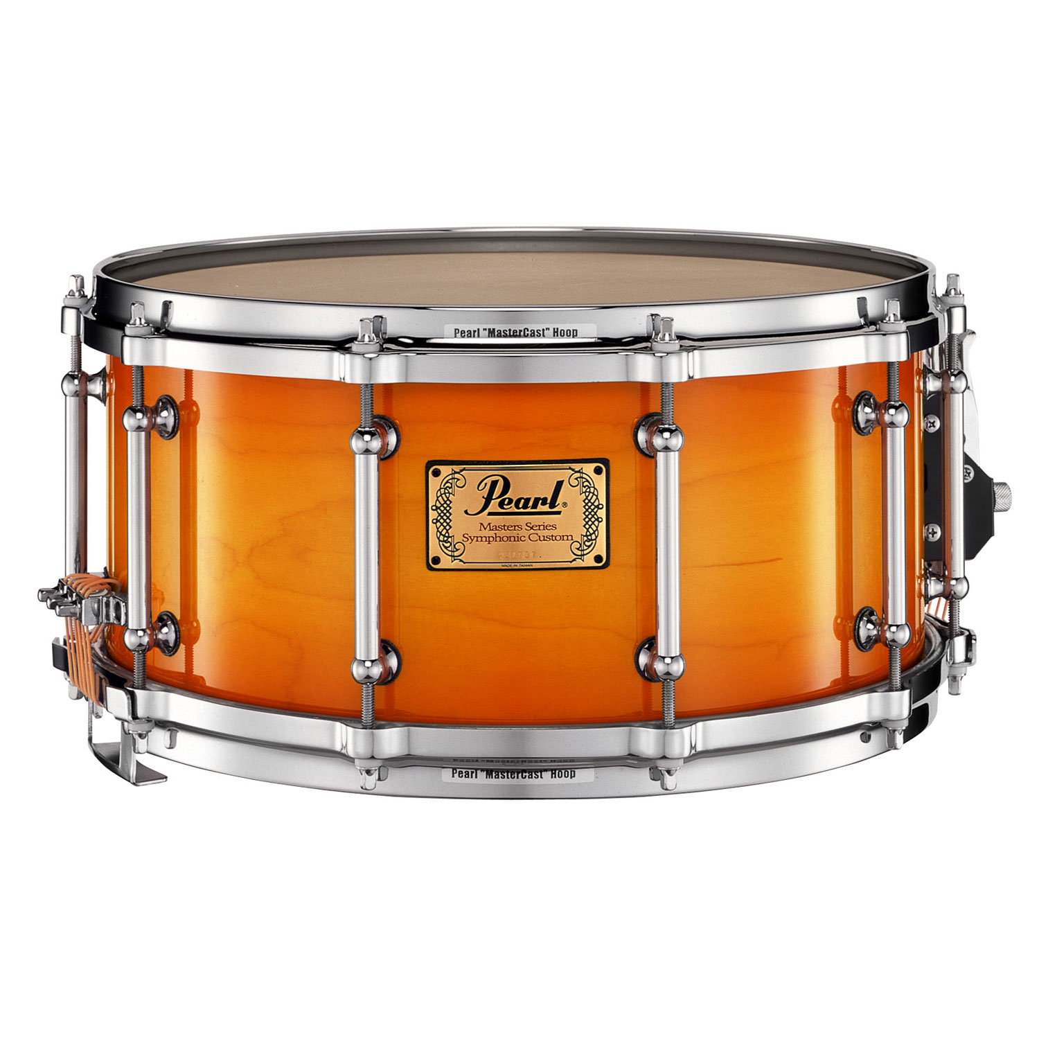 "Pearl 14"" x 6.5"" Masters Symphonic 6-Ply Maple Concert Snare Drum in Antique Sunburst"