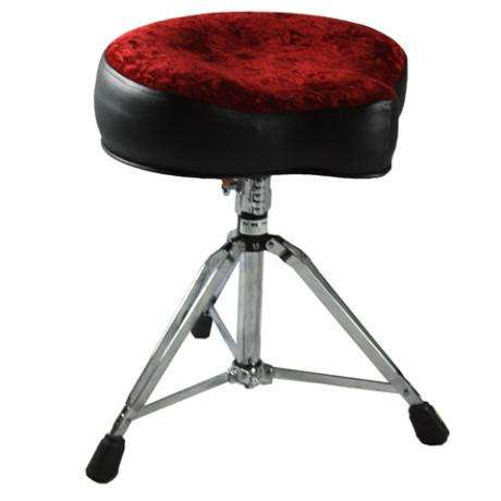 Pork Pie Big Boy Black/Red Crush Drum Throne
