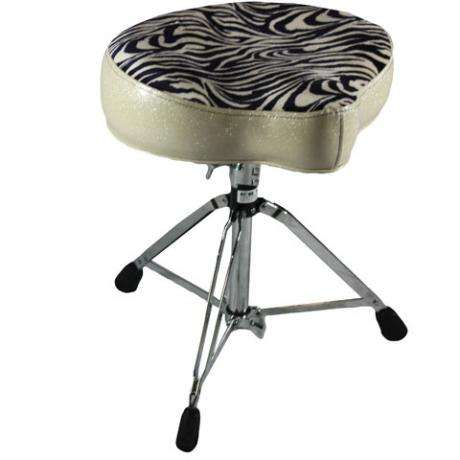 Pork Pie Big Boy Silver/Zebra Stripe Drum Throne