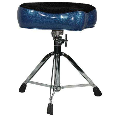 Pork Pie Big Boy Blue Glitter/Black Swirl Drum Throne