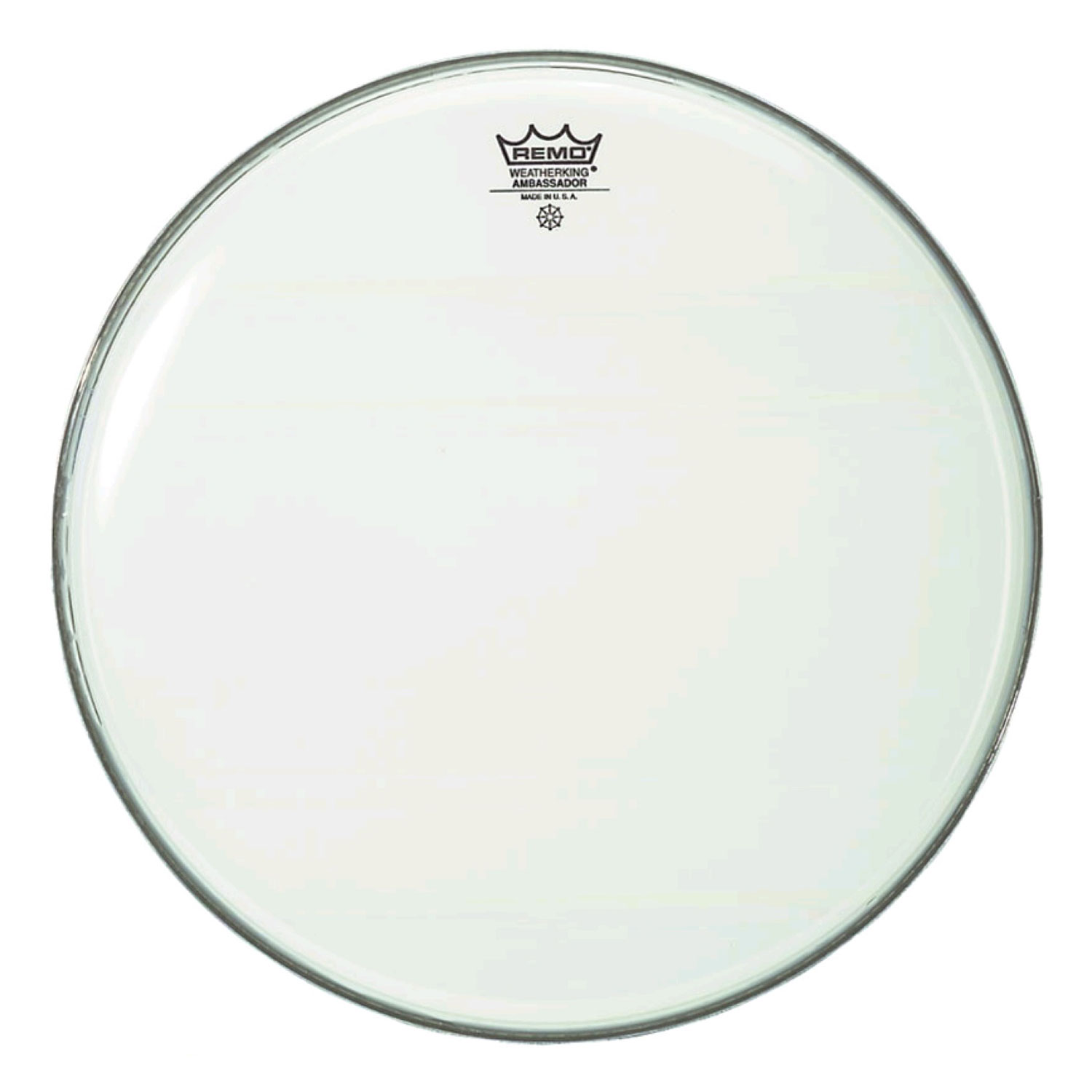 "Remo 16"" Ambassador Smooth White Drum Head"