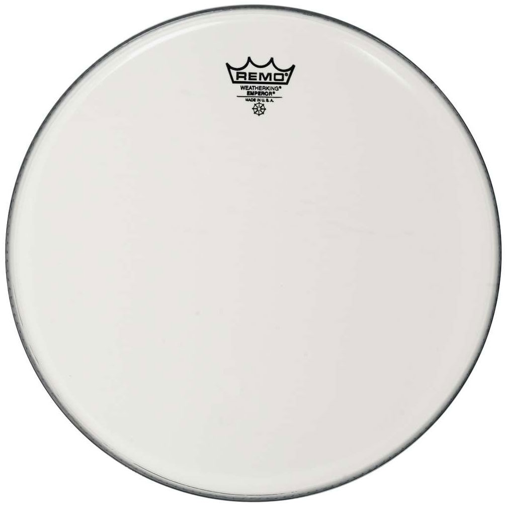 "Remo 14"" Emperor Smooth White Crimplock Marching Tenor Drum Head"
