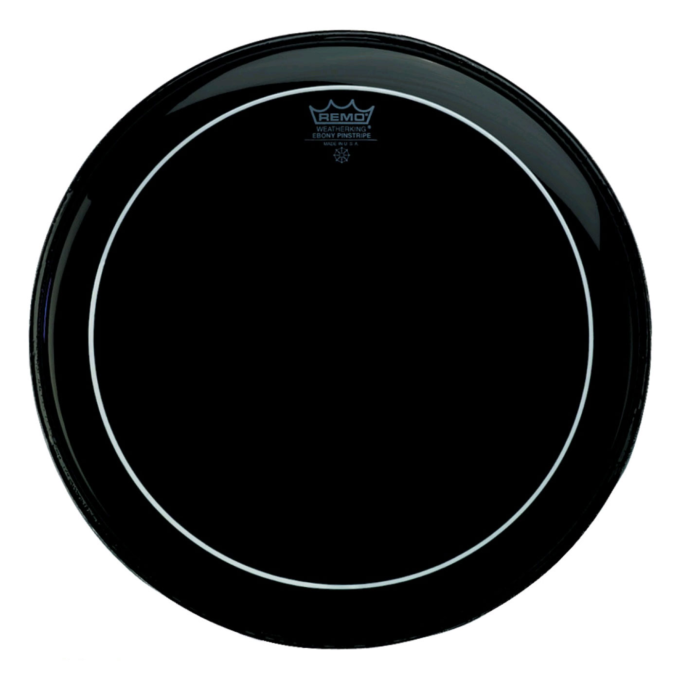 "Remo 16"" Pinstripe Ebony Bass Drum Head"