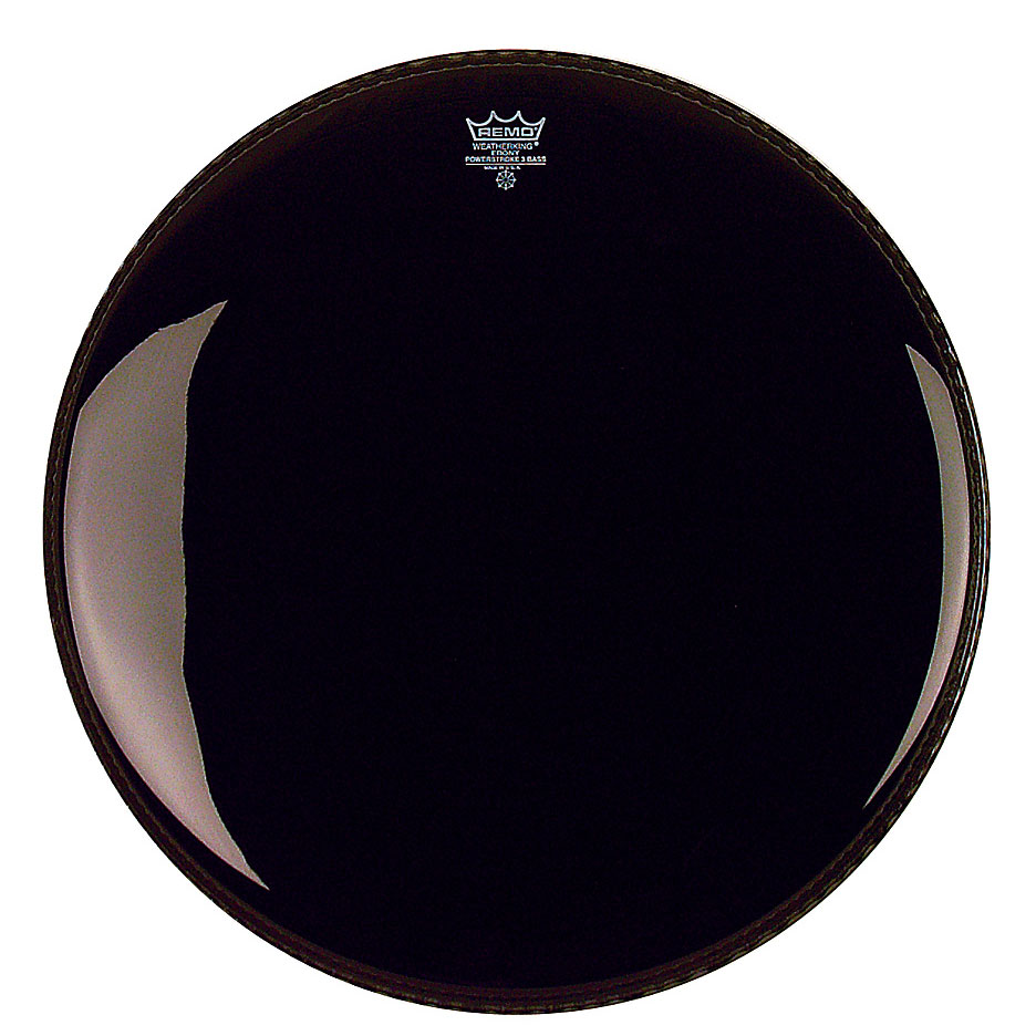 "Remo 20"" Powerstroke P3 Ebony Bass Drum Head"