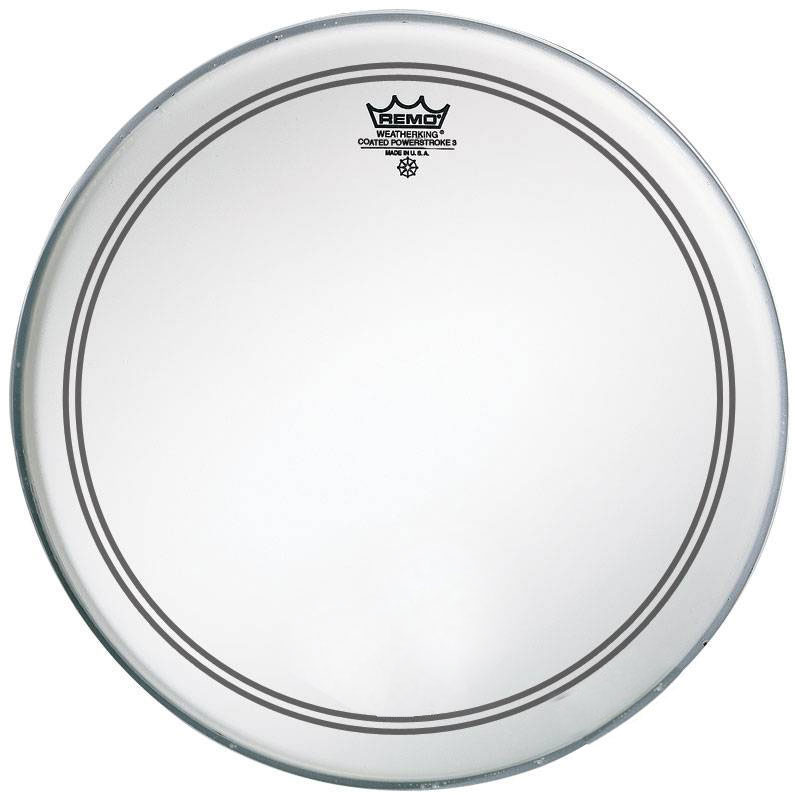 "Remo 20"" Powerstroke P3 Coated Bass Drum Head with Falam Patch"