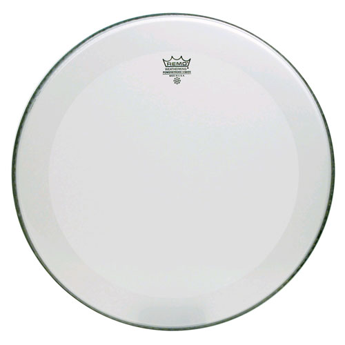 """Remo 22"""" Powerstroke P3 Smooth White Bass Drum Head with 5"""" White DynamO"""