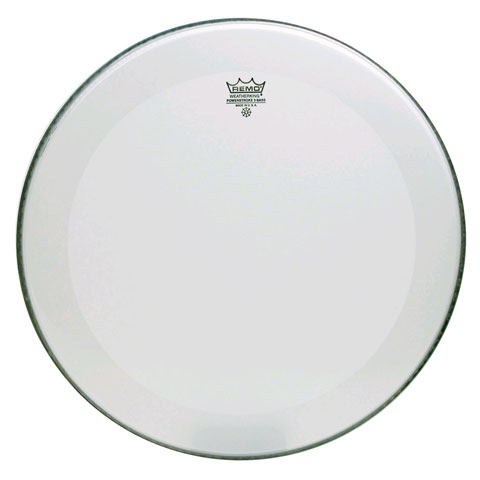 """Remo 24"""" Powerstroke P3 Smooth White Bass Drum Head with 5"""" White DynamO"""