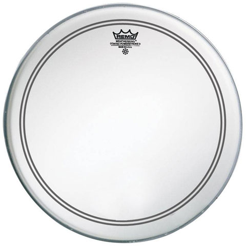 "Remo 24"" Powerstroke P3 Smooth White Bass Drum Head with Falam Patch"